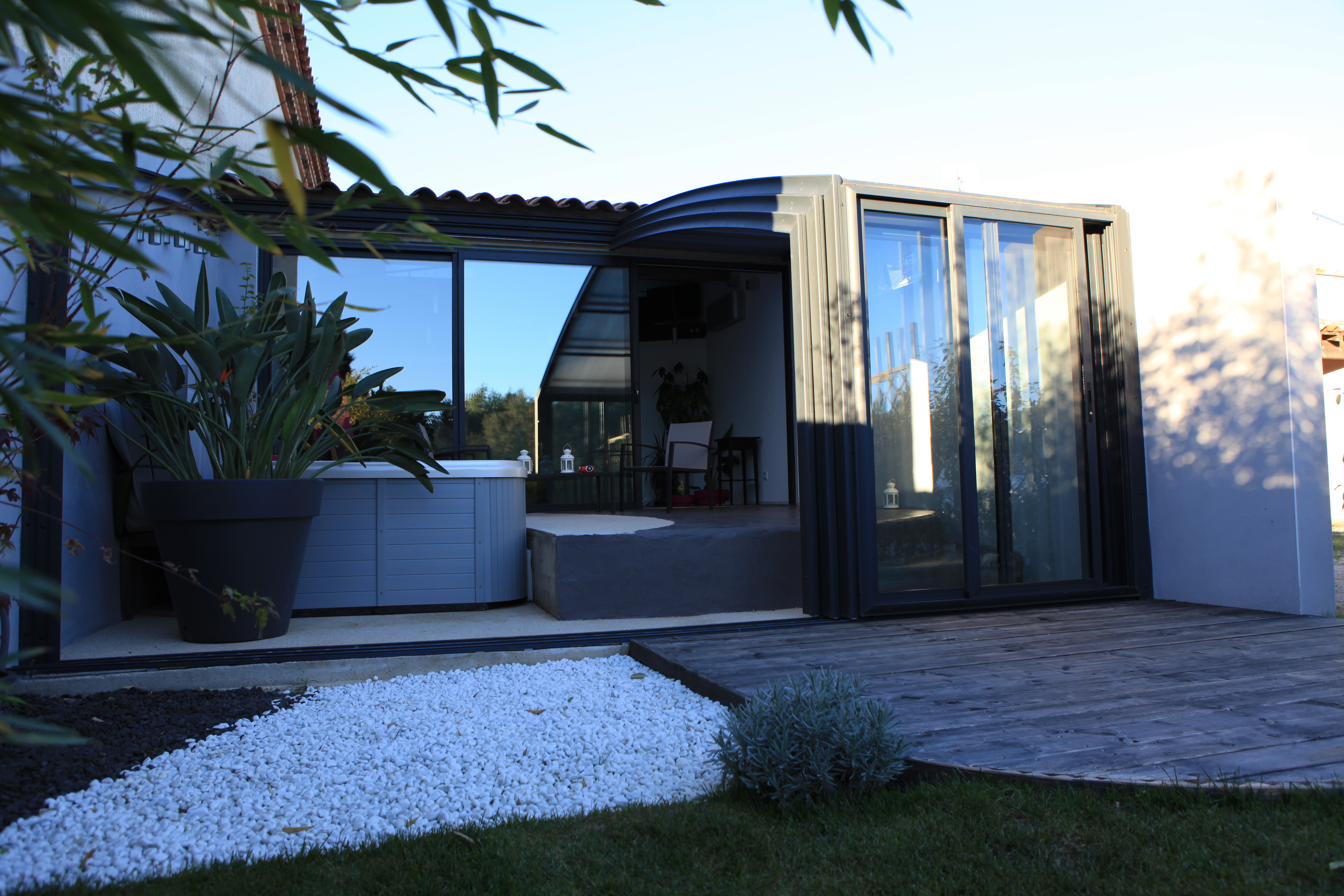 Abri Terrasse Fixe Et Coulissant   Fabricant Azenco encequiconcerne Abri De Terrasse Ferme