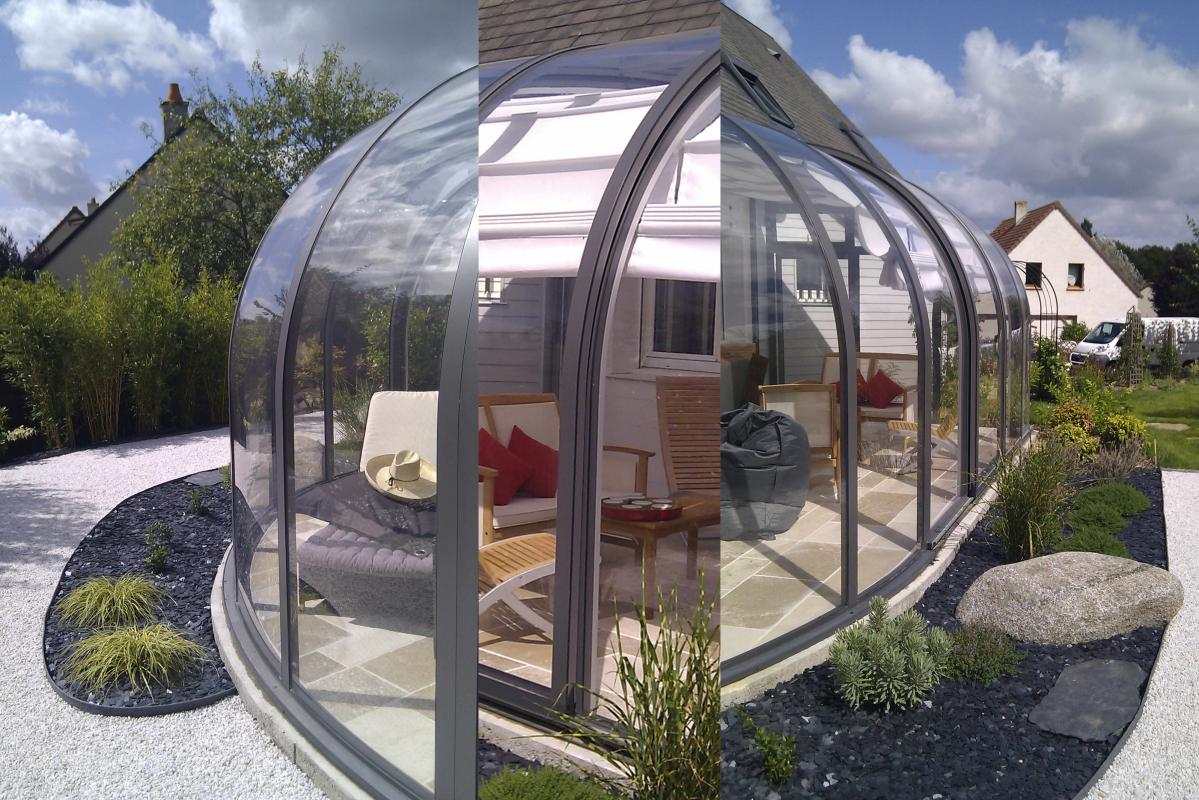 Abri Terrasse Perle Solar Véranda Bioclimatique Coulissante ... dedans Abri Terrasse Coulissant