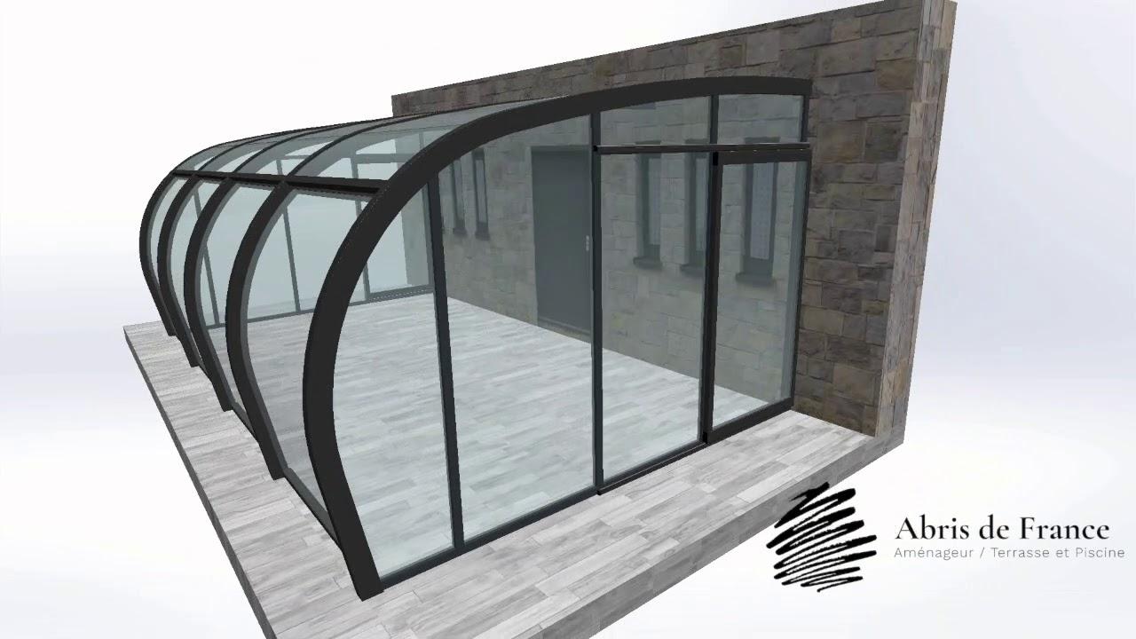 Abri Terrasse Style Véranda Video De Fonctionnement destiné Abris De Terrasse