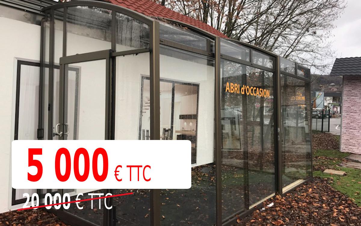 Abri Terrasse Télescopique - Bronze - Destockage ... dedans Abri Terrasse Coulissant