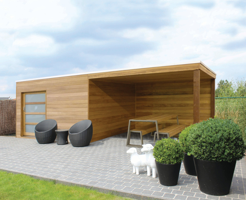Abris De Jardin Aménageables Sur Mesure À Namur serapportantà Abri De Jardin Moderne