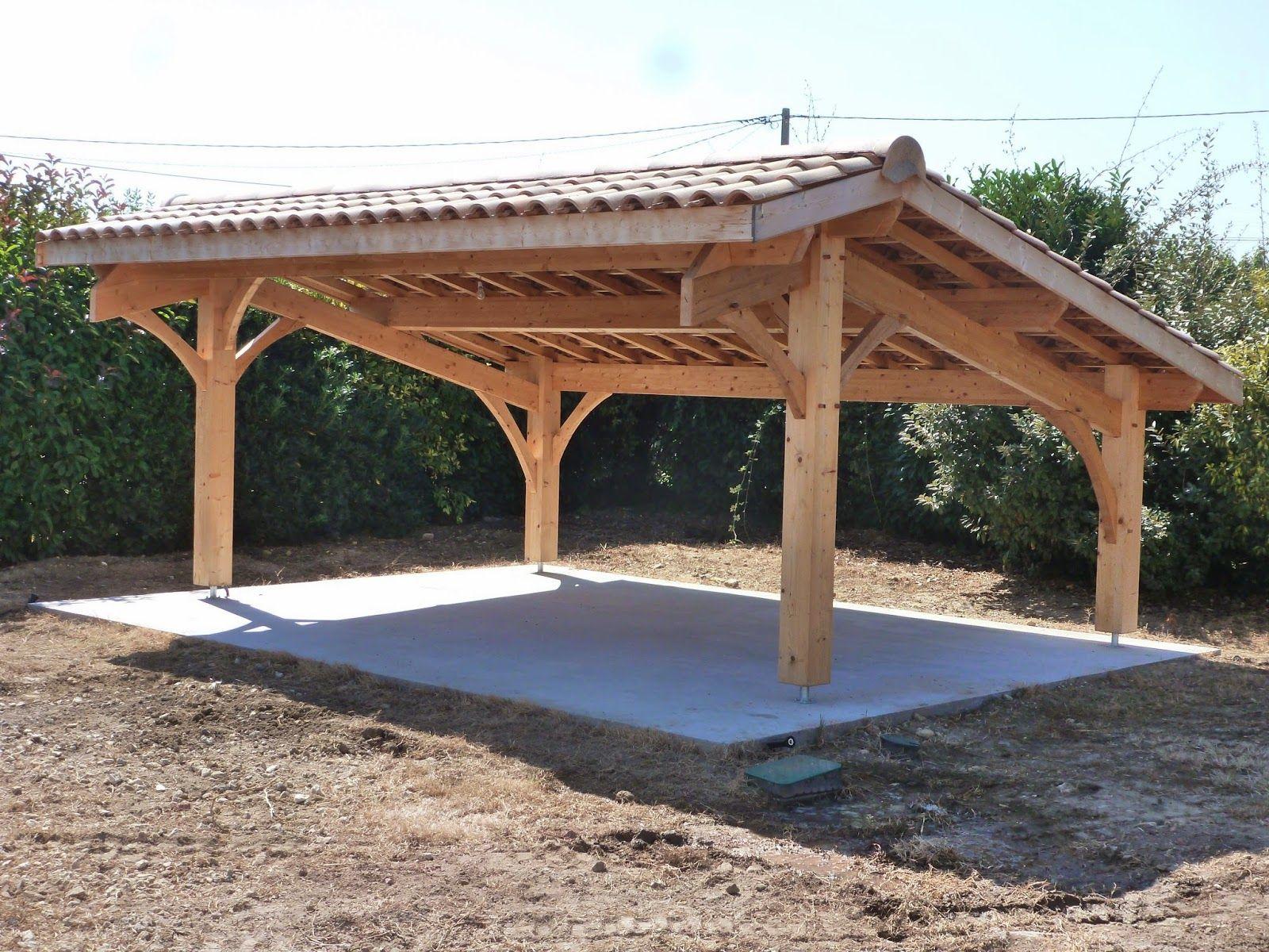 Abris De Jardin Bois / Carport Voitures Bois / Garage Bois ... intérieur Abris A Bois