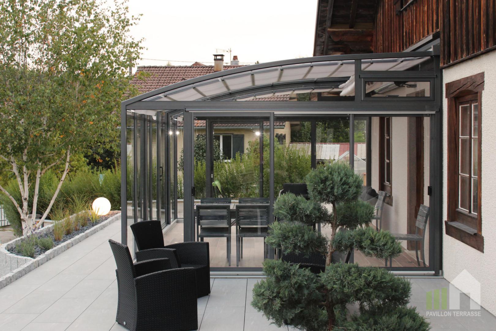 Abris Terrasse Pavillon I Solar Véranda Voroka Coulissante ... à Abri Pour Terrasse