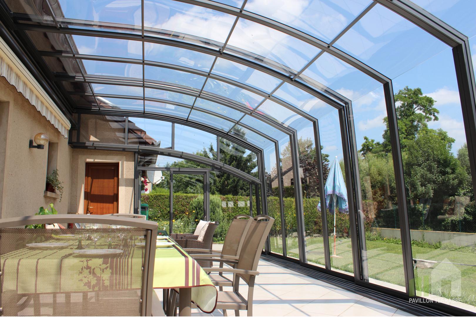 Abris Terrasse Pavillon I Solar Véranda Voroka Coulissante ... serapportantà Abri Terrasse Coulissant