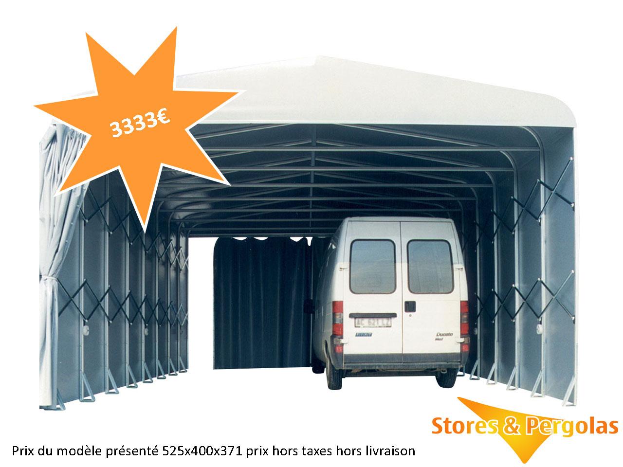 Abris Tunnels | Stores & Pergolas dedans Abri Moto Pas Cher