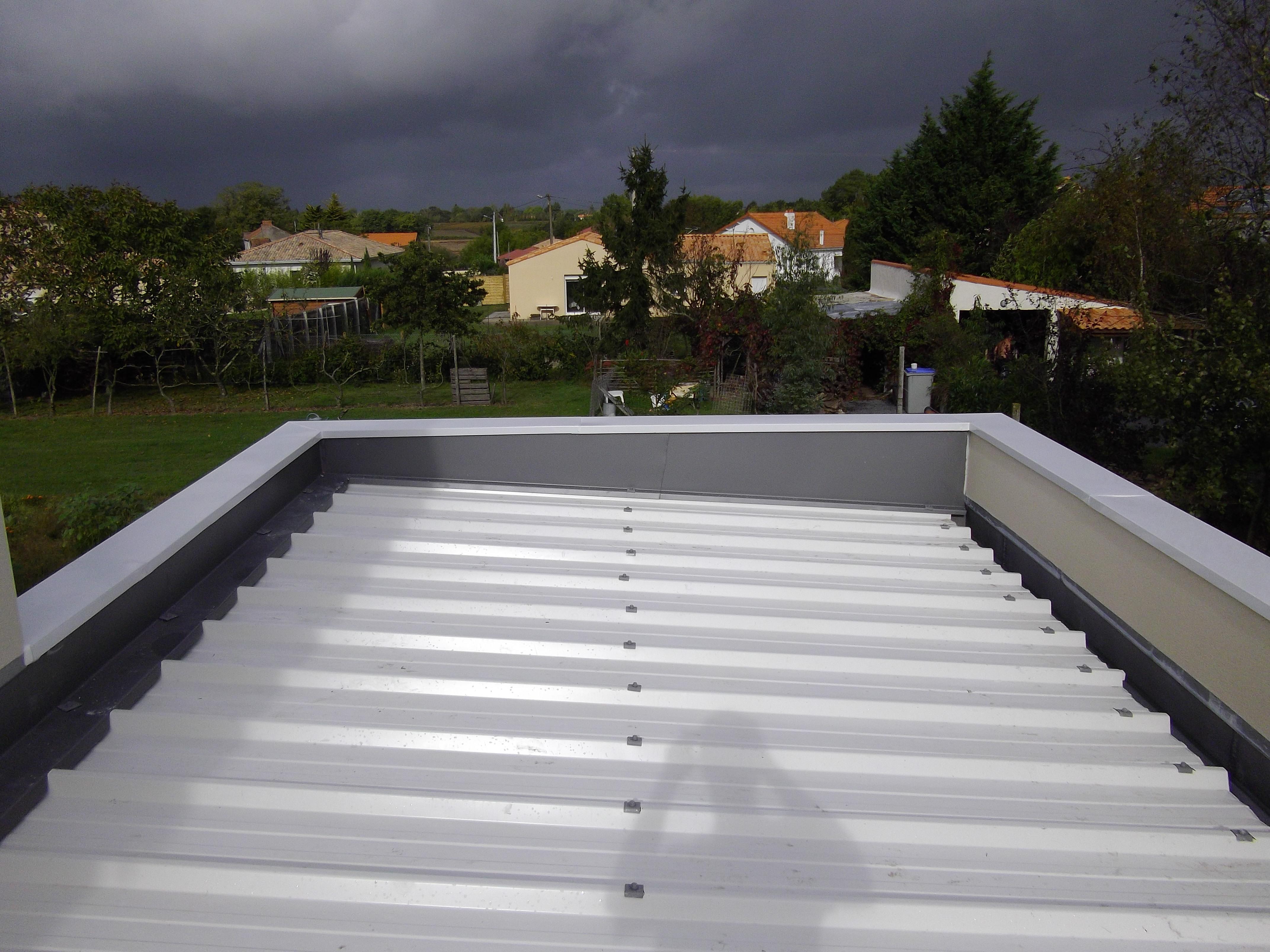Acrotère Toit Plat - Couvertine Alu - Au Bac D'eau Nantes à Acrotere Toiture Terrasse