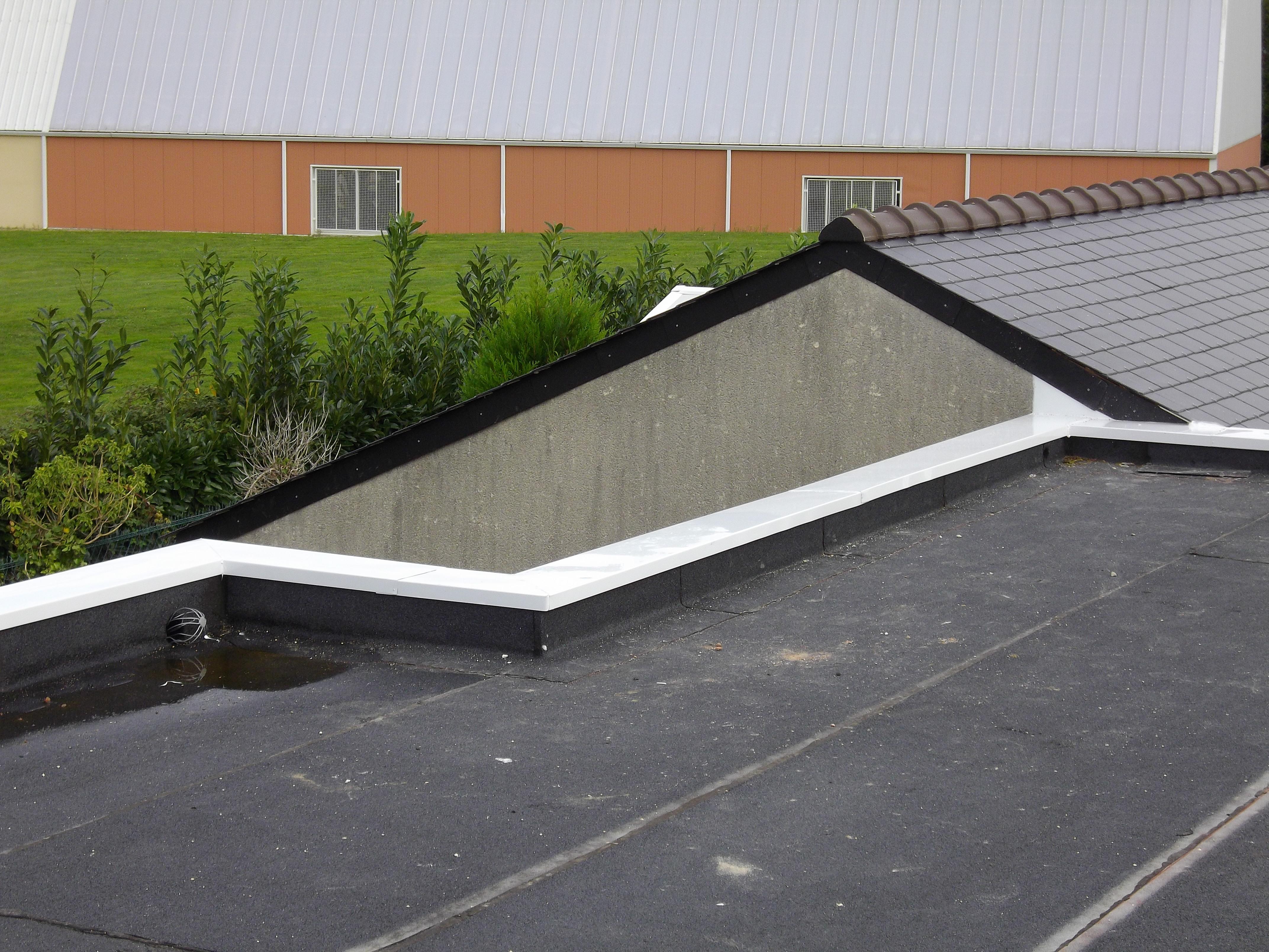 Acrotère Toit Plat - Couvertine Alu - Au Bac D'eau Nantes intérieur Acrotere Toiture Terrasse