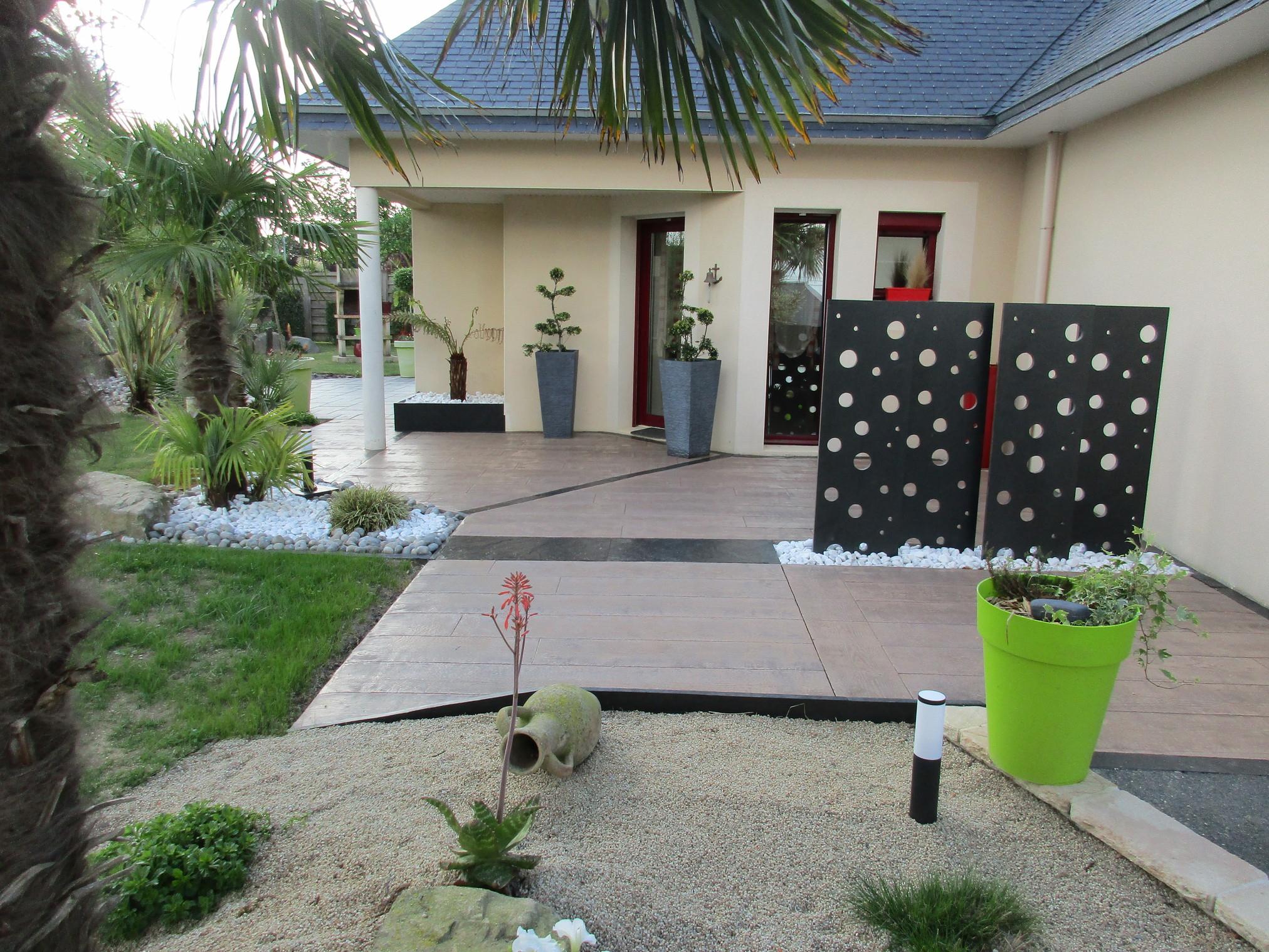 Aménagement Autour D'une Terrasse - Coëtmieux intérieur Amenagement De Terrasse