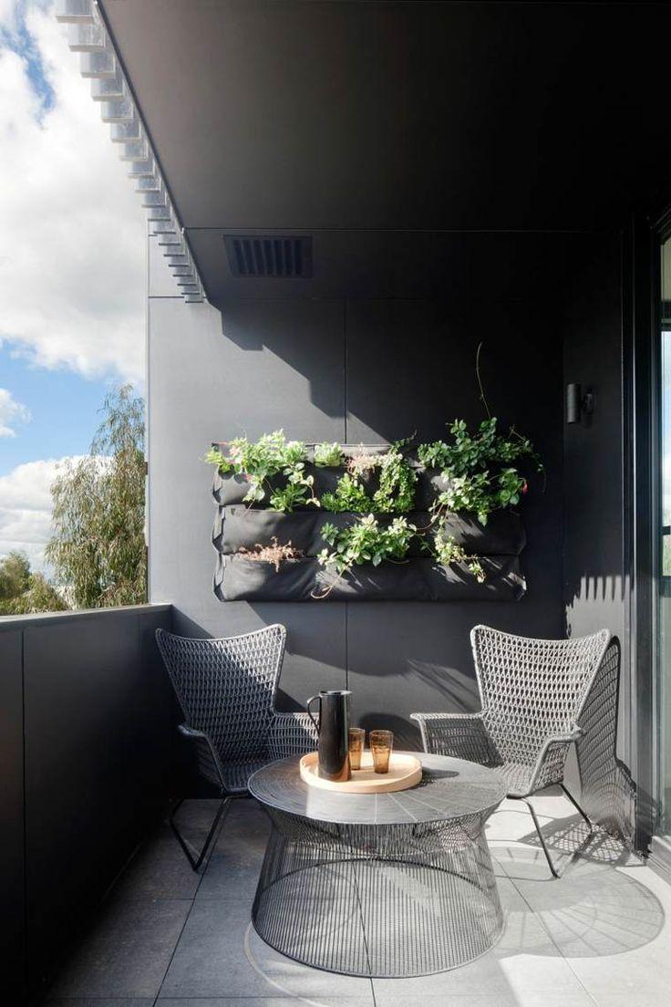 Aménagement #balcon #terrasse #meubles #salon #exterieur ... à Amenagement De Terrasse Exterieure
