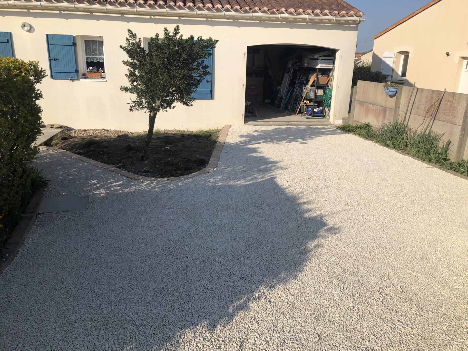 Aménagement Cour Et Chemin Avec Gravier,sable Compact,grave ... tout Amanagement De Cour