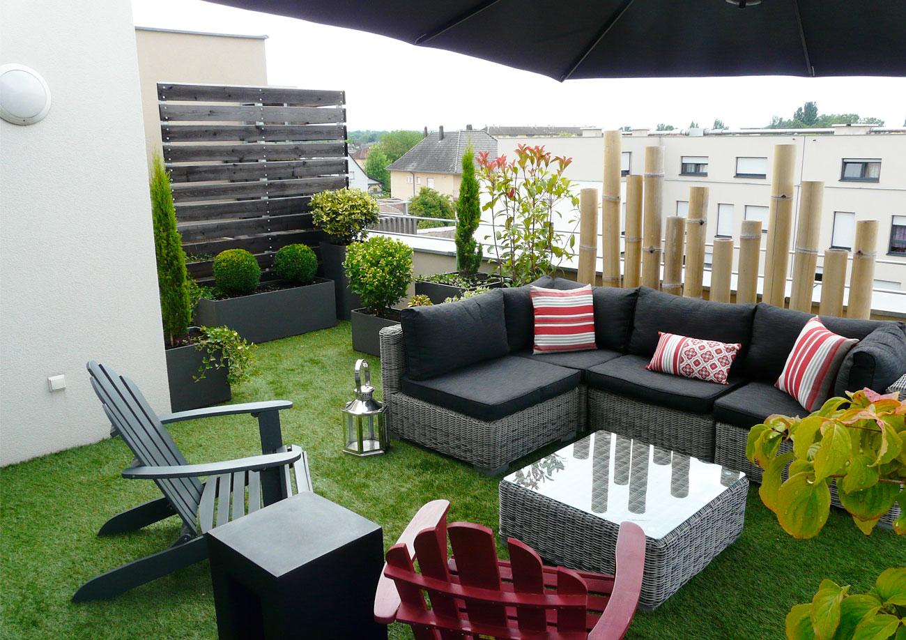 Aménagement De Jardin Contemporain - Lnp à Amenagement De Terrasse