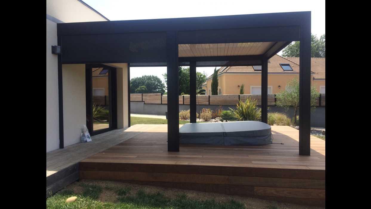 Aménagement D'espaces Détente Sur Terrasse - (72) concernant Amenagement De Terrasse