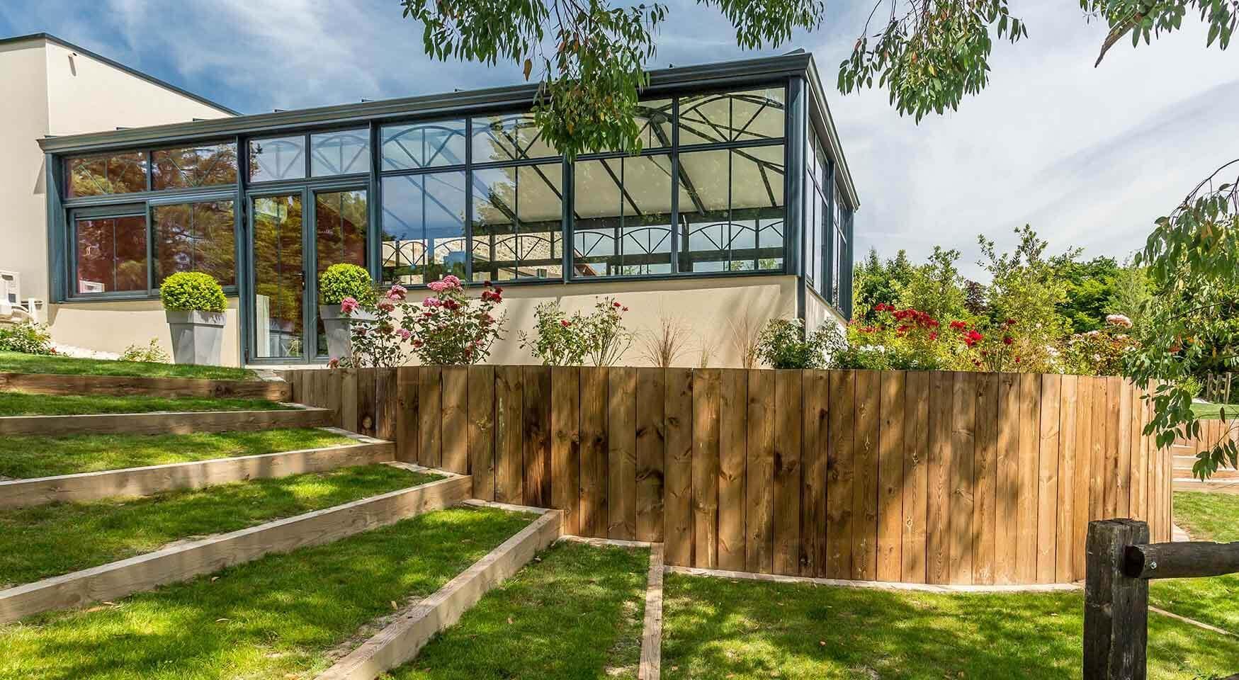 Aménagement D'extérieur Rustique Et Naturel - Oxygen Paysages encequiconcerne Amanagement Jardin En Pente