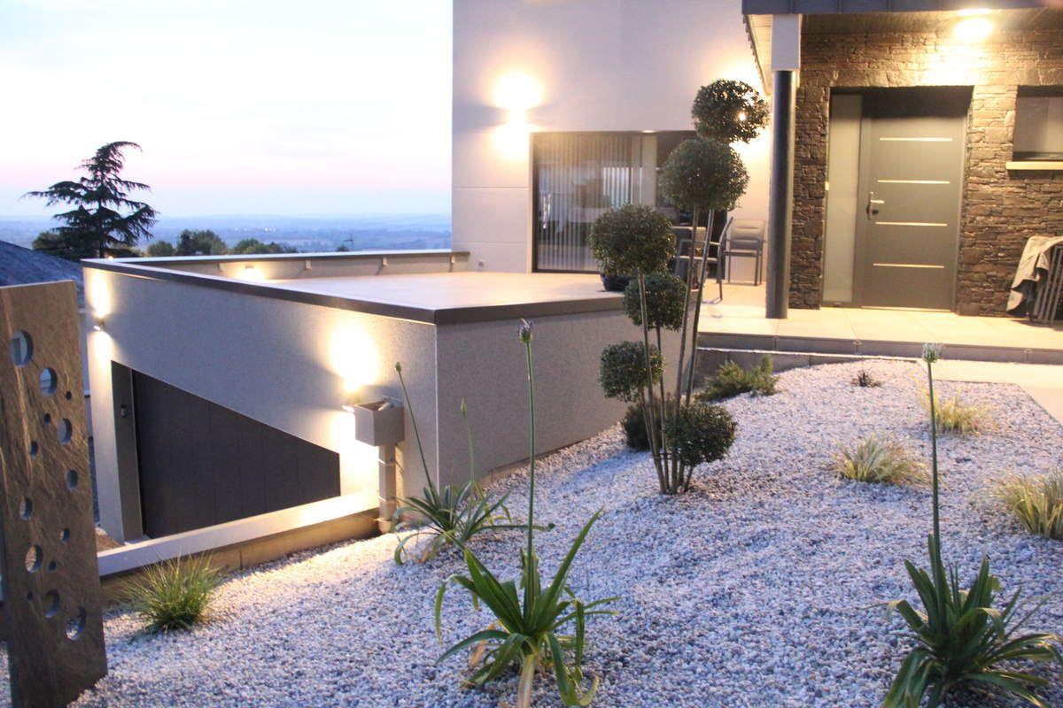 Aménagement D'un Jardin En Terrasse À Vire(14) - Au Naturel ... intérieur Amenagement De Terrasse