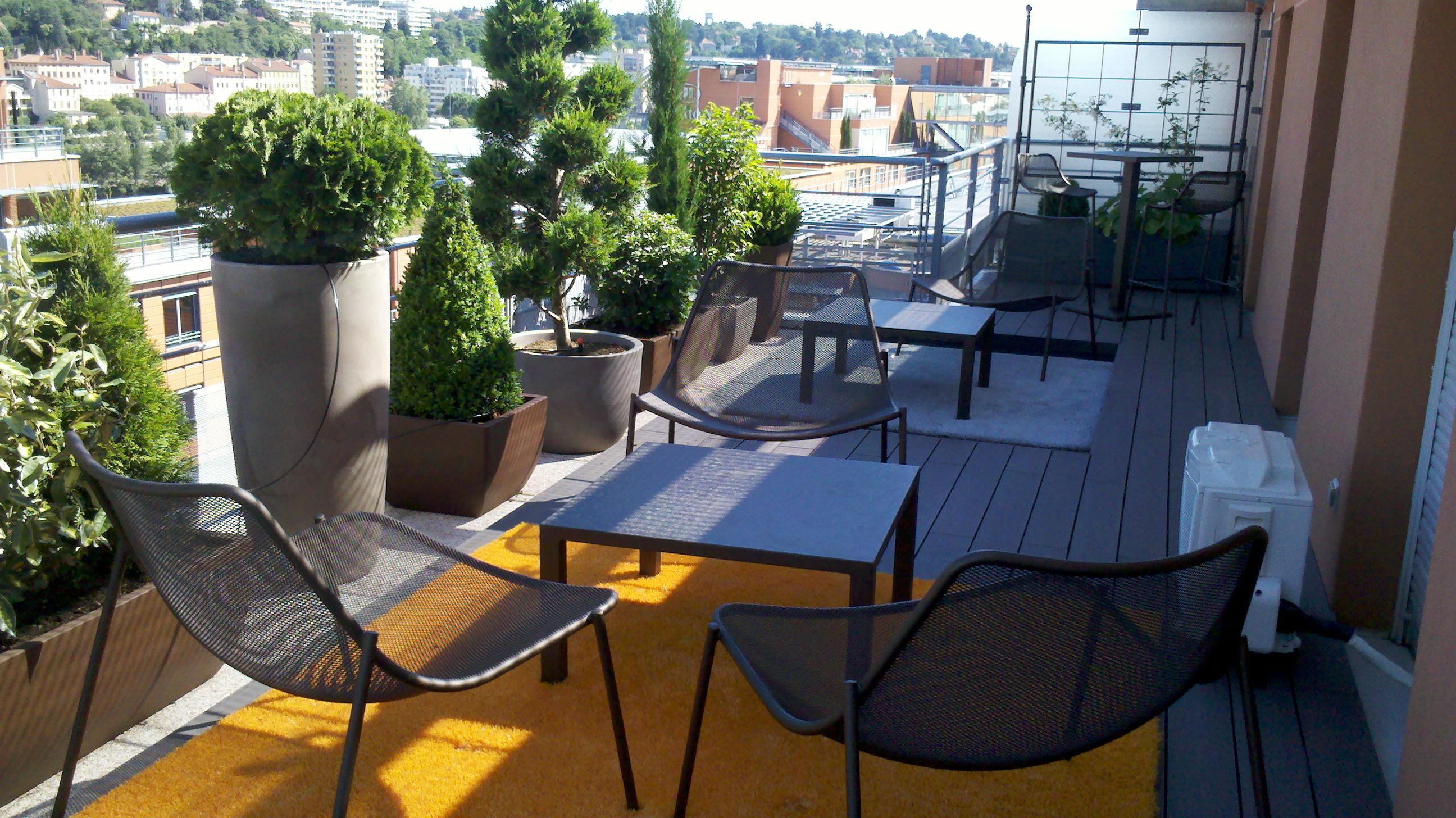 Aménagement Extérieur À Lyon 69 intérieur Amenagement De Terrasse