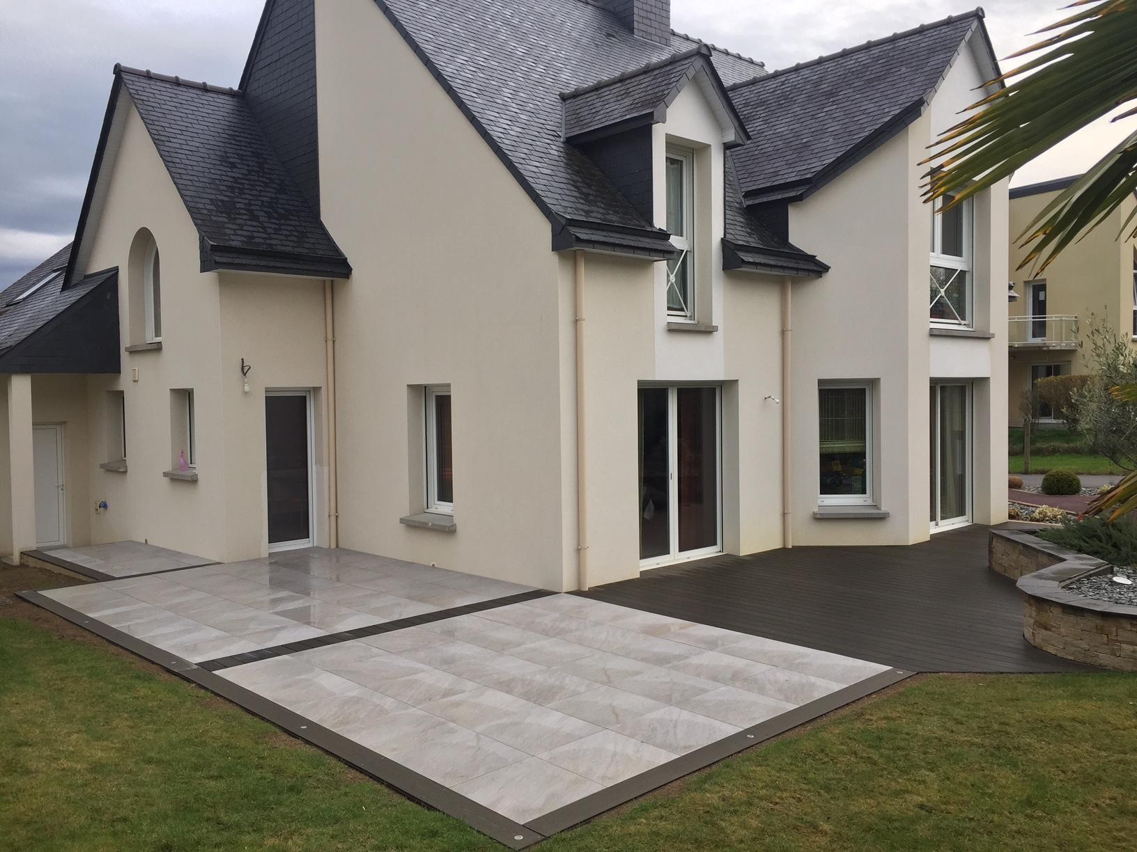 Aménagement Extérieur Avec Terrasse - Vitré (35) - Teraa à Amanagement Extarieur Maison