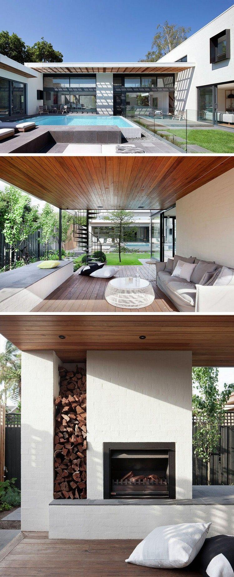 Aménagement Extérieur Maison Avec Terrasse, Piscine ... serapportantà Amanagement Extarieur Maison