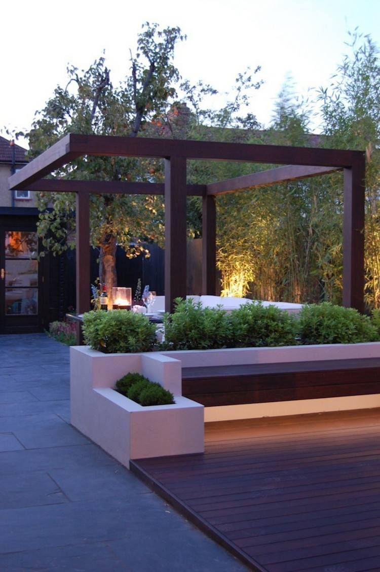 Aménagement Jardin Paysager Moderne Avec Coin De Détente En ... serapportantà Amenagement De Terrasse