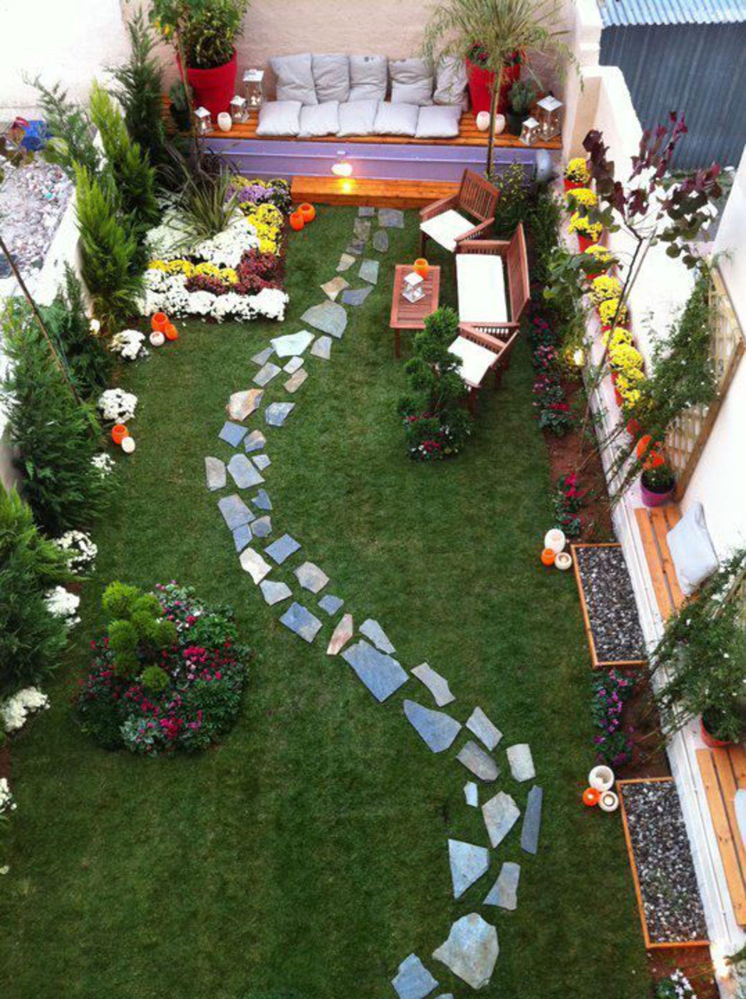 Aménagement Petit Jardin De Ville : 12 Idées Sur Pinterest ... avec Amenager Jardin Rectangulaire