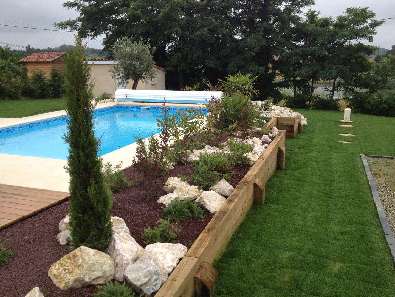 Aménagement Tour De Piscine | Aménagement Jardin Terrasse ... avec Abord De Piscine