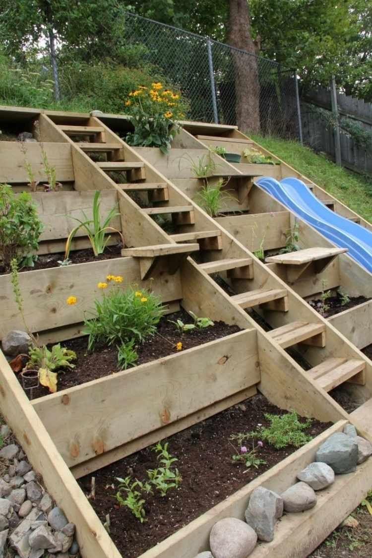 Aménager Son Jardin En Pente - Conseils Pratiques Et Photos ... avec Amanagement Jardin En Pente