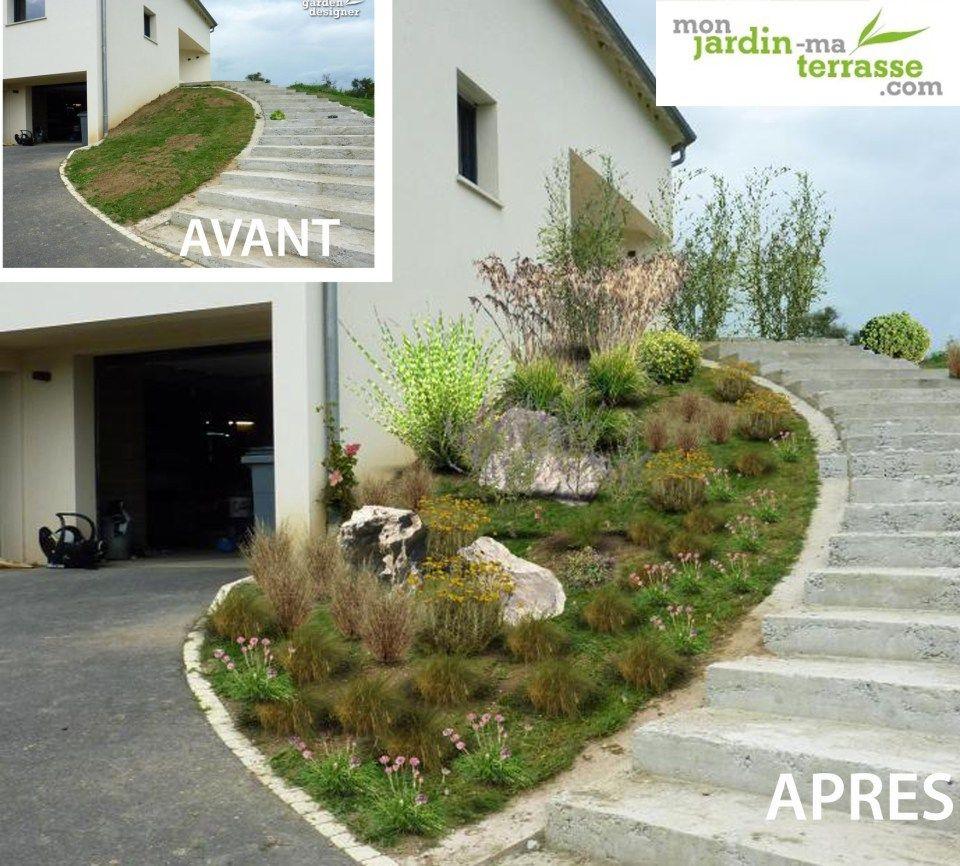 Aménager Une Entrée De Jardin En Pente | Jardin En Pente ... destiné Amanagement Jardin En Pente