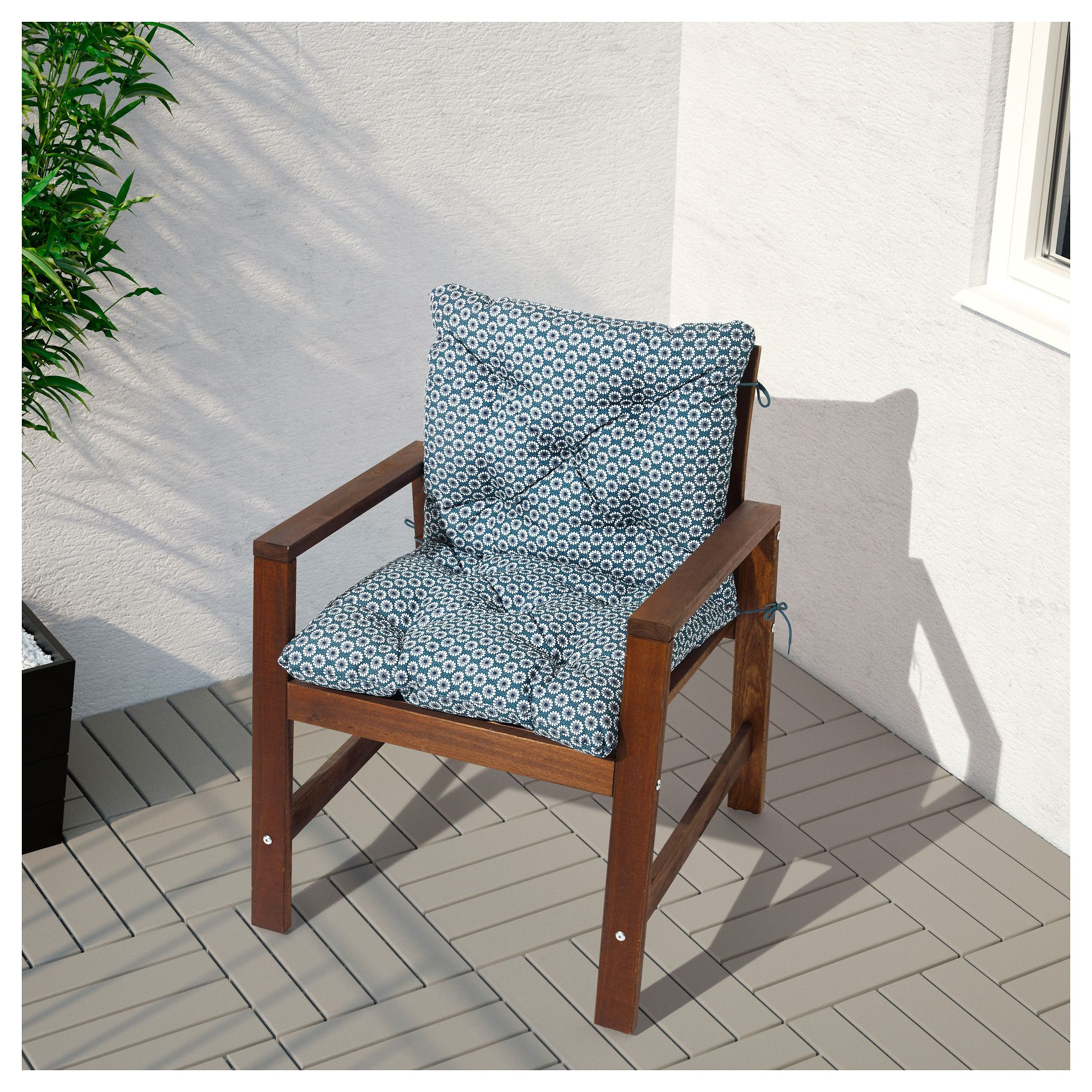 Äpplarö Armchair, Outdoor - Brown Stained Brown | Mobilier ... intérieur Banc De Jardin Ikea