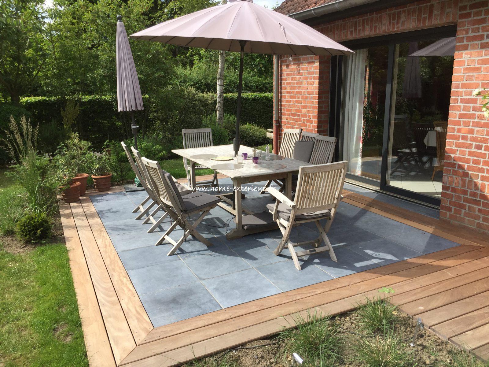 Architecte Paysagiste Terrasses Jardins - Nord - Lille - Le ... tout Amenagement De Terrasse Exterieure