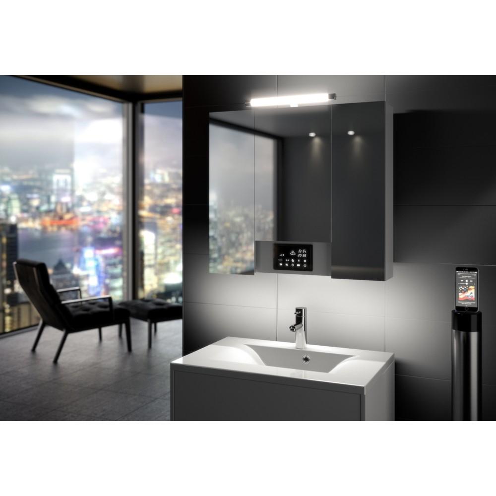 Armoire De Toilette Interactive Opty 80 Cm Allibert concernant Allibert Salle De Bain