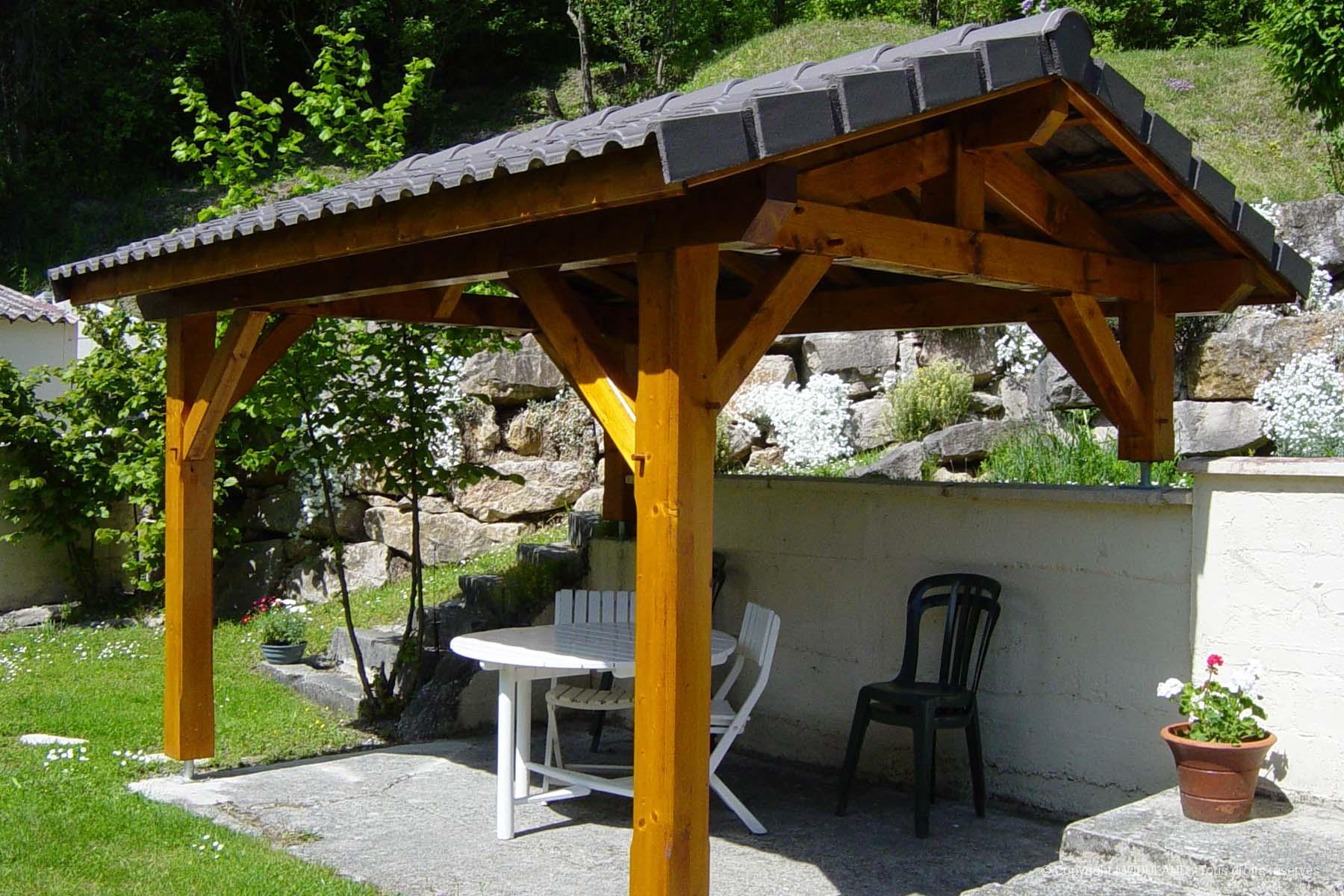 Auvent Bois Pérouges | Moduland avec Auvent Bois Terrasse