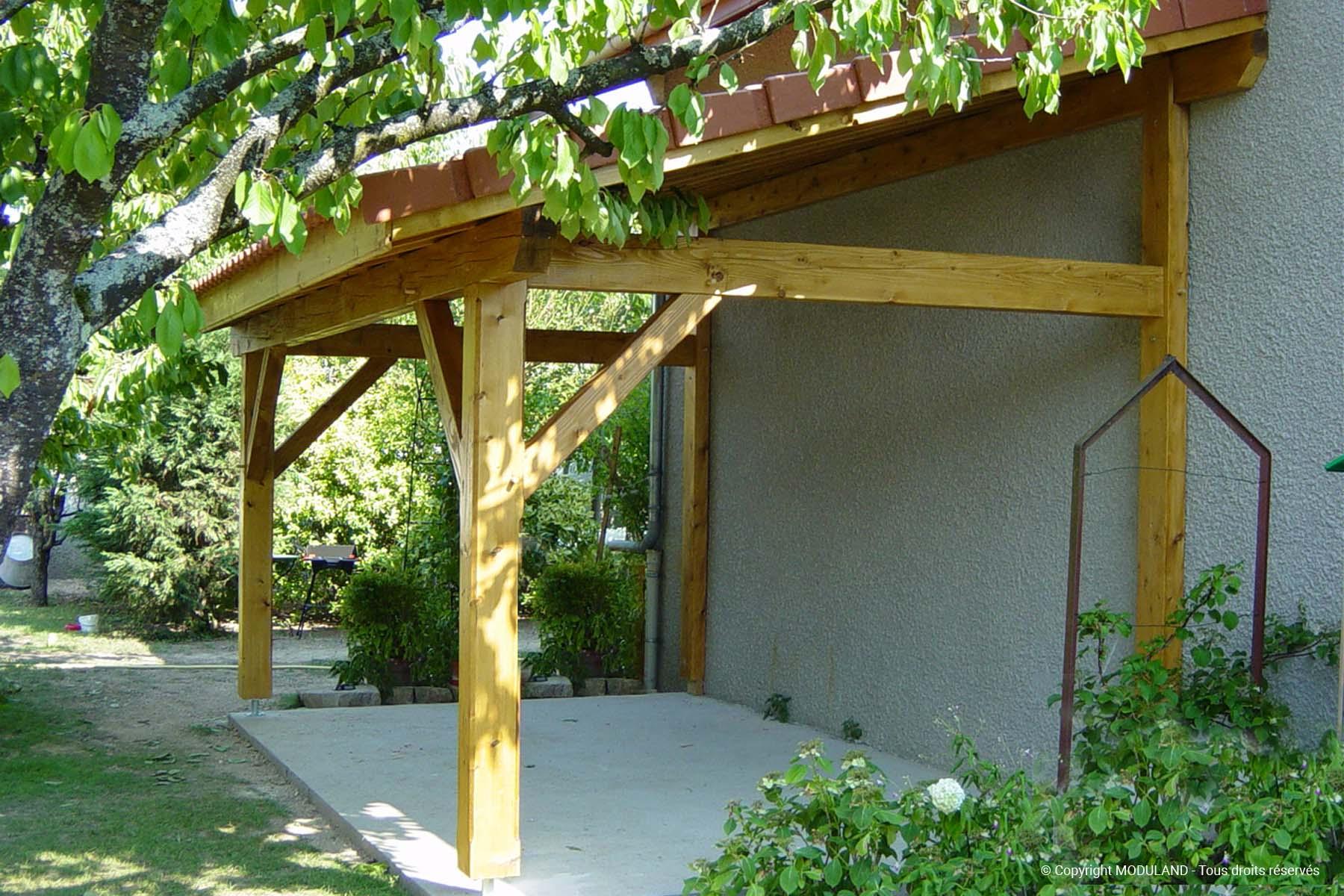 Auvent En Bois Vichy | Moduland pour Auvent Bois Terrasse