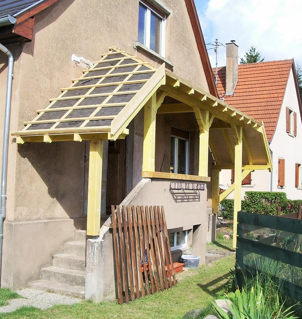 Auvent Et Terrasse - Charpente Gabel destiné Auvent Bois Terrasse