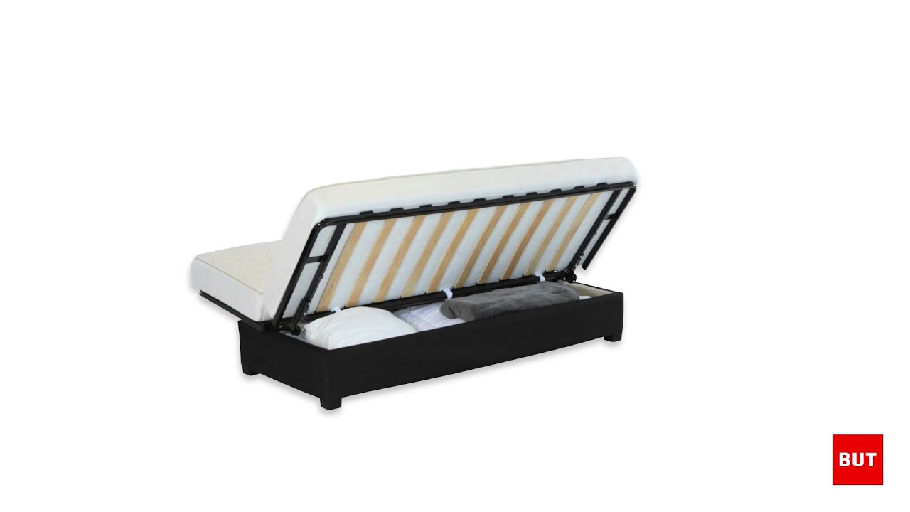 Banquette-Lit Clic-Clac Simmons Ressorts 130Cm - But serapportantà Conforama Canape Lit