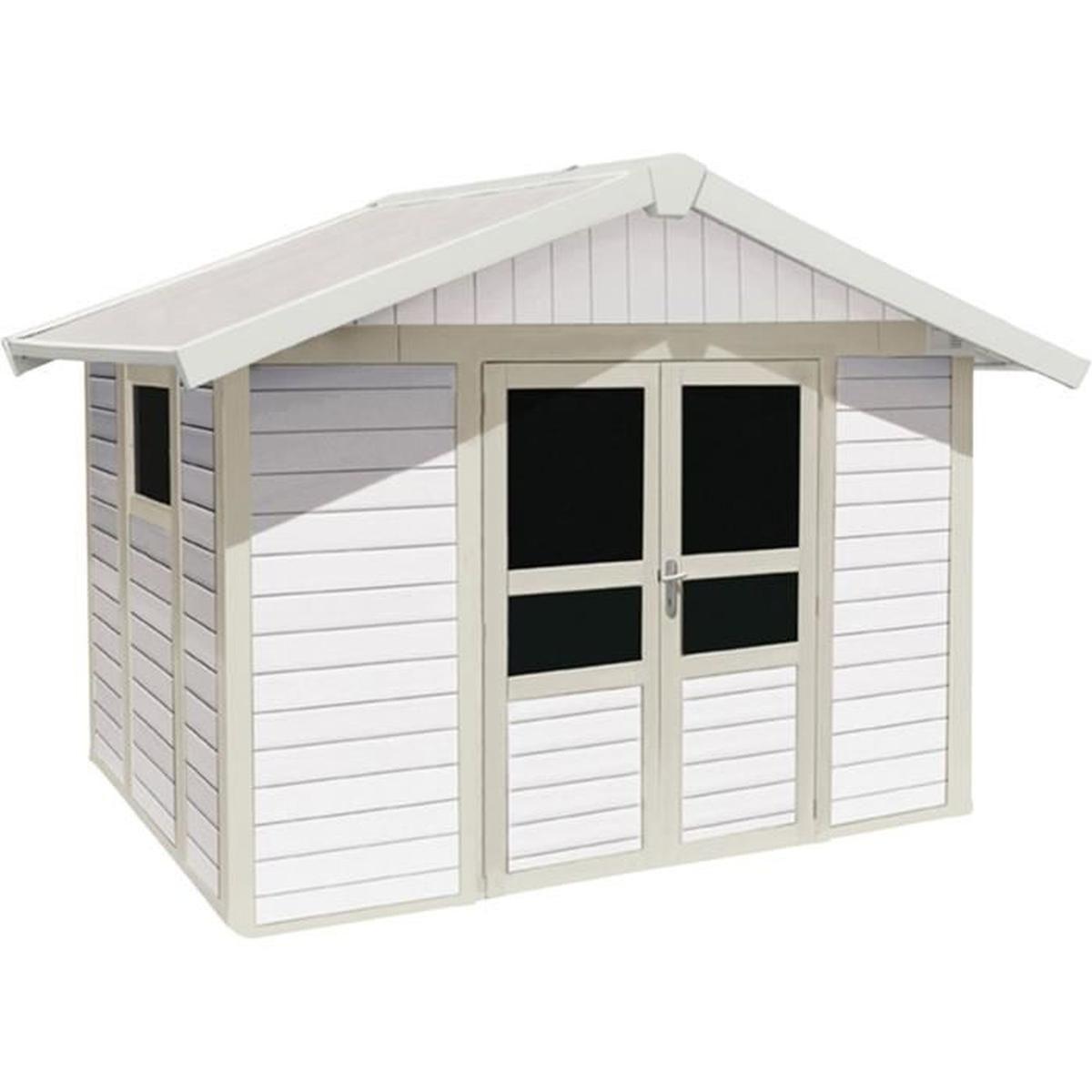 Basic Home Abri De Jardin Grosfillex Blanc En Pvc 11M² ... dedans Abri Jardin Grosfillex