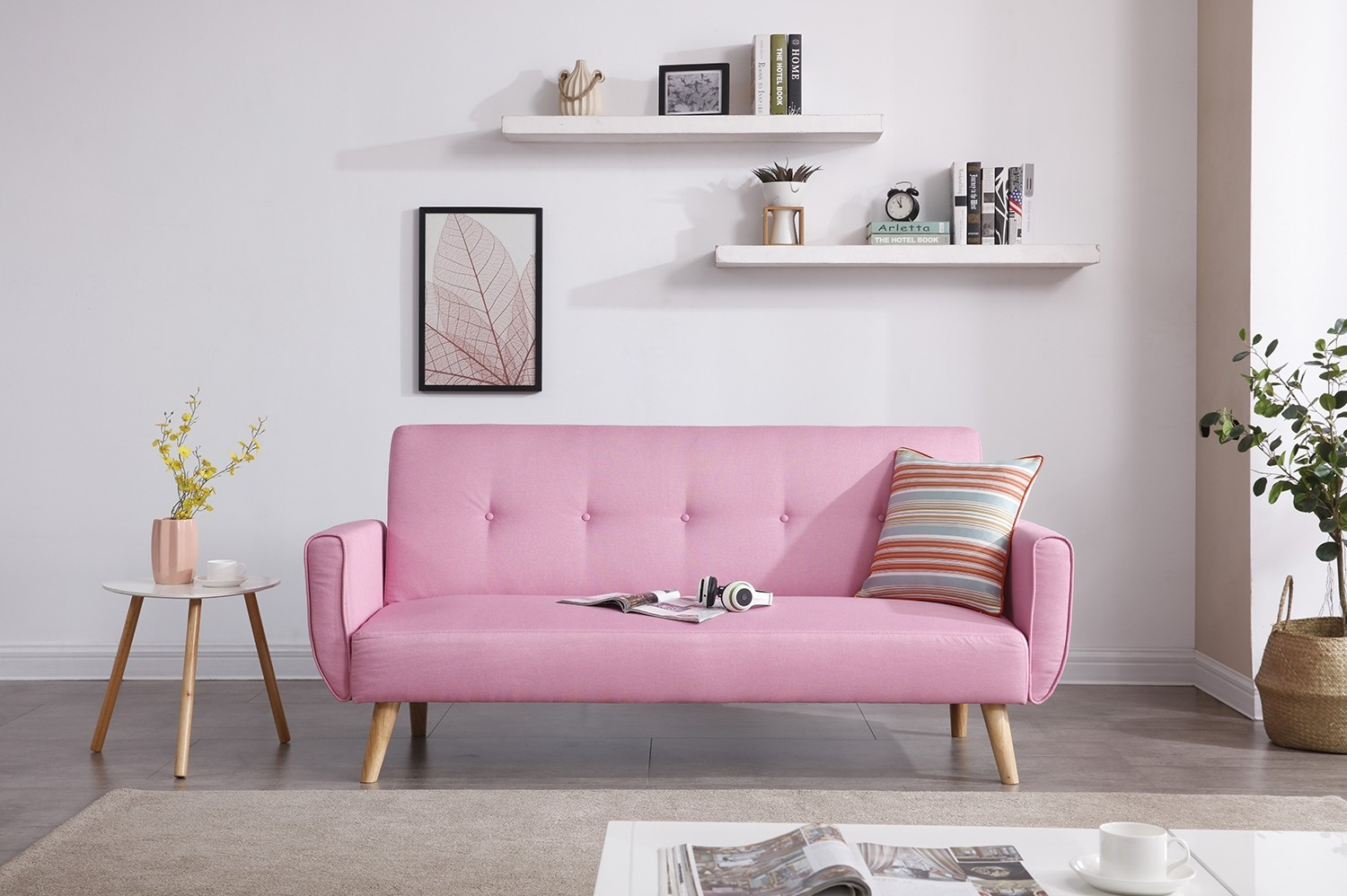 Berlin Rose tout Canape Angle Scandinave Convertible