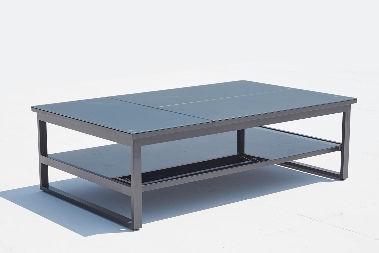 Brasilia serapportantà Table De Jardin En Aluminium