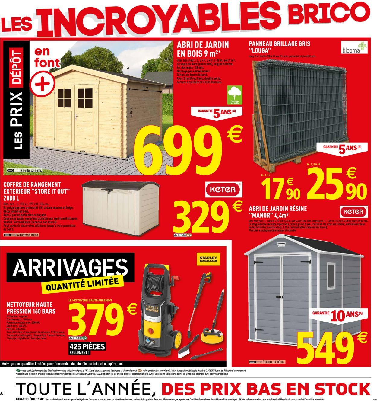 Brico Dépôt Catalogue Actuel 07.06 - 30.06.2019 [8 ... destiné Abri De Jardin Brico Depot