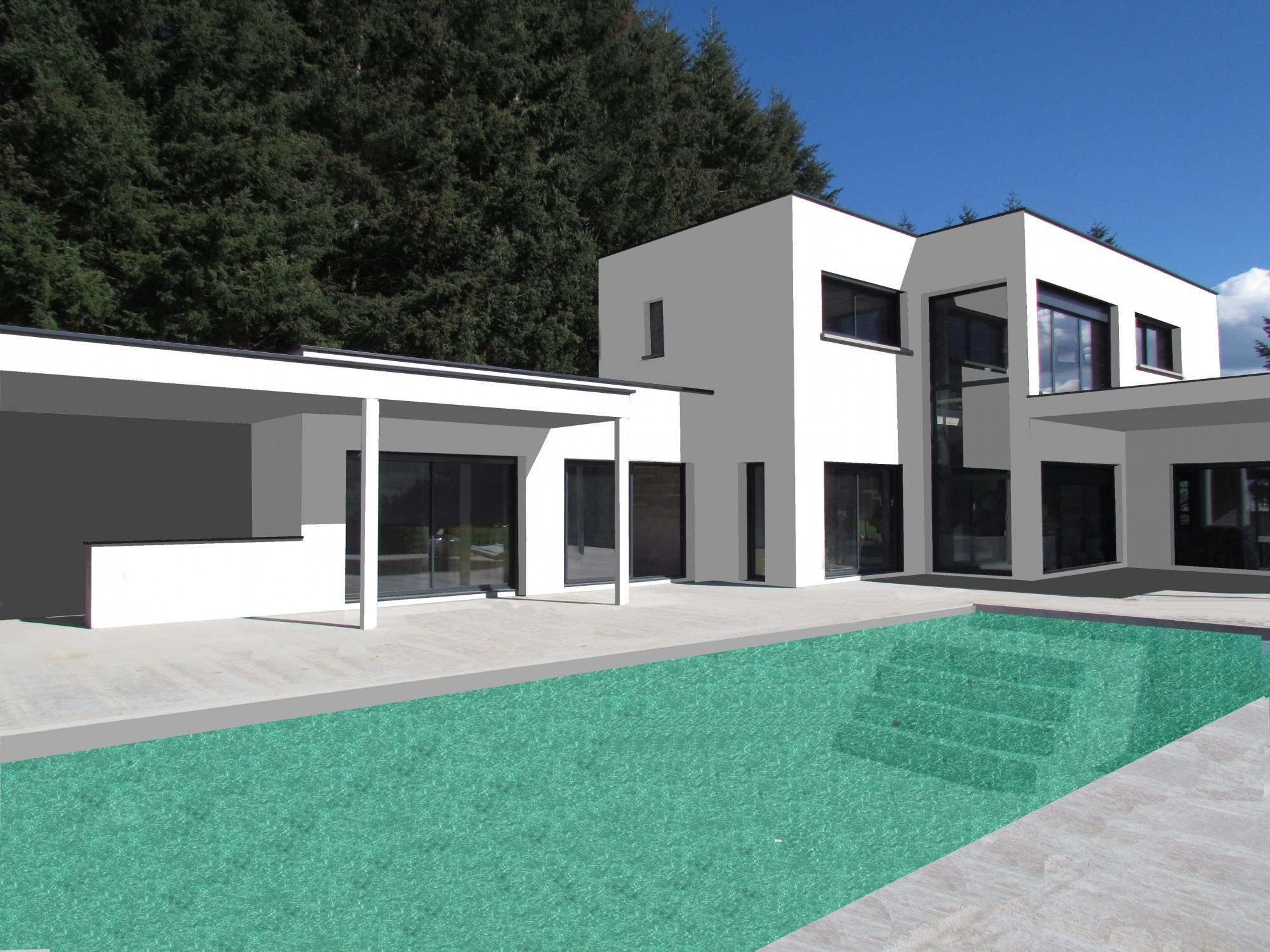 Bureau D'études Pour Construction De Maison Avec Toit ... intérieur Terrasse Toit Plat