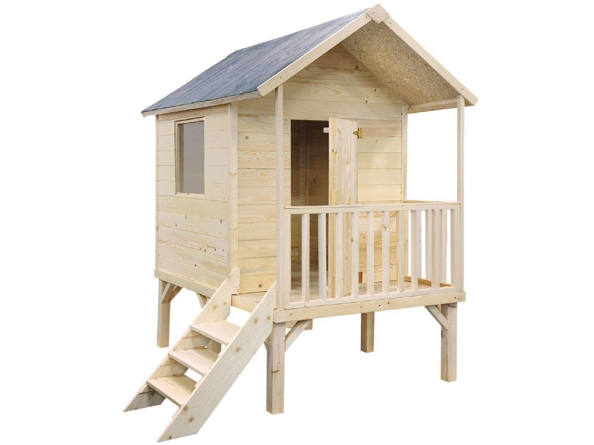 Cabane Enfant Kangourou + intérieur Abri Bois Pas Cher