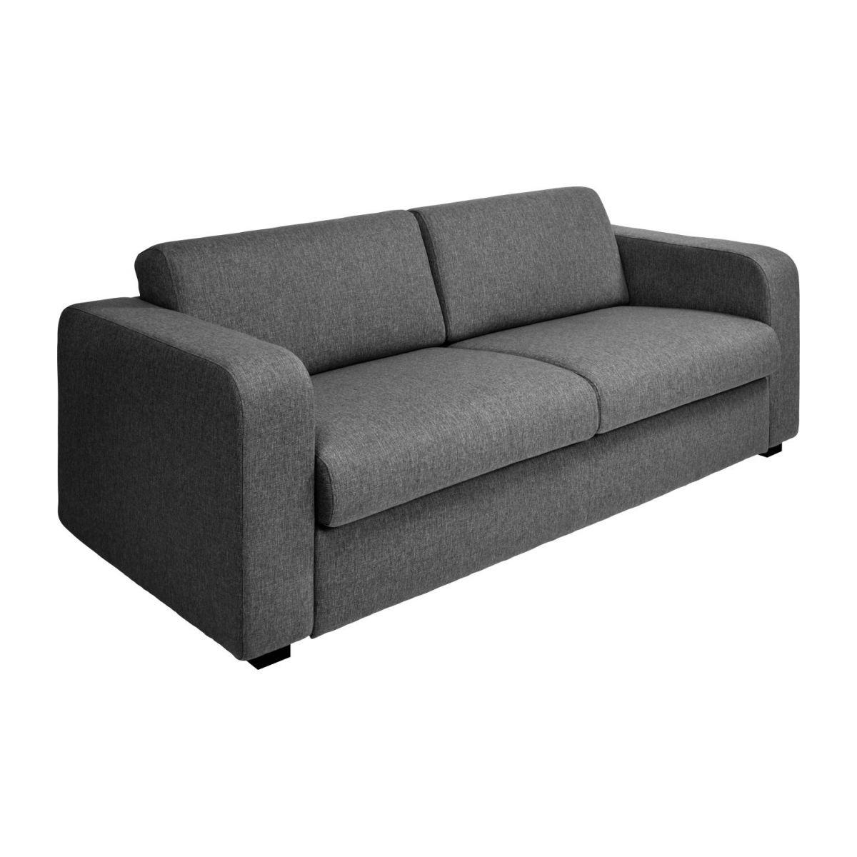 Canapé 2 Places Convertible En Tissu - Gris tout Canape Lit Convertible Couchage Quotidien