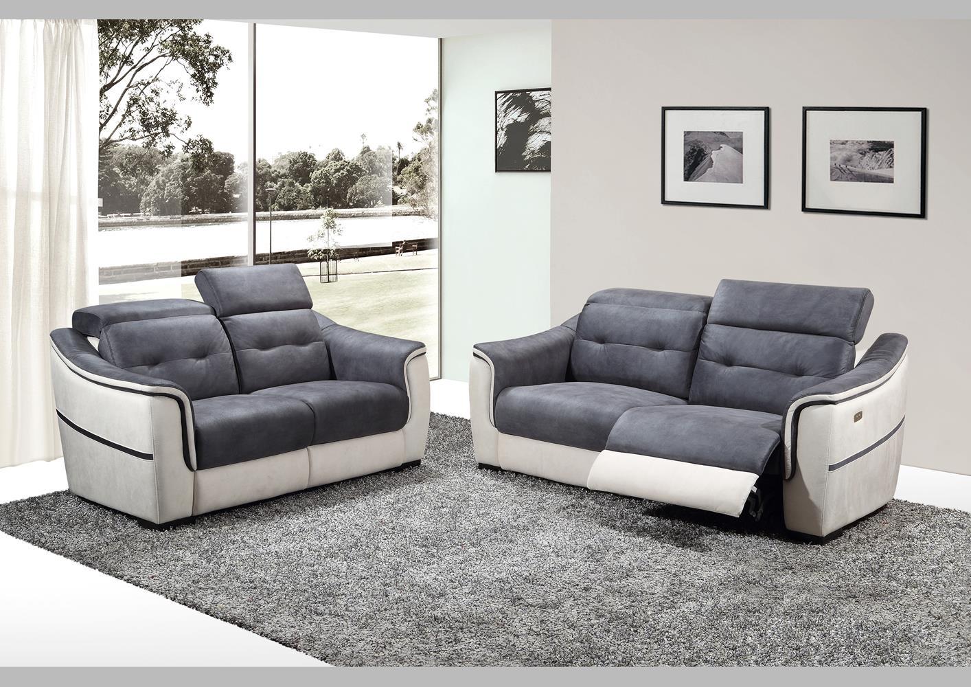 Canapé 2 Places Pvc Et Microfibre Fixe Ou Relax concernant Canape Relax 2 Places