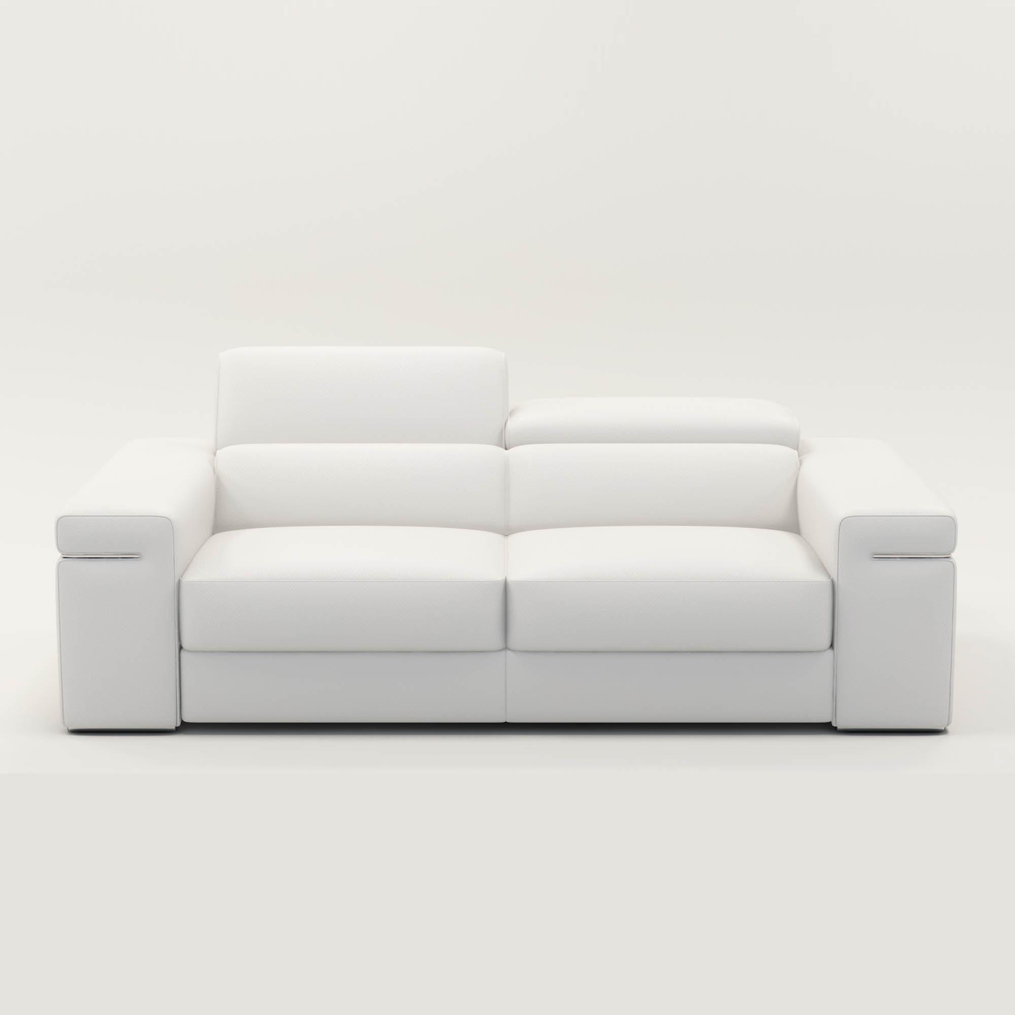 Canapé 3 Places En Cuir Blanc Thomas serapportantà Canape Cuir Blanc