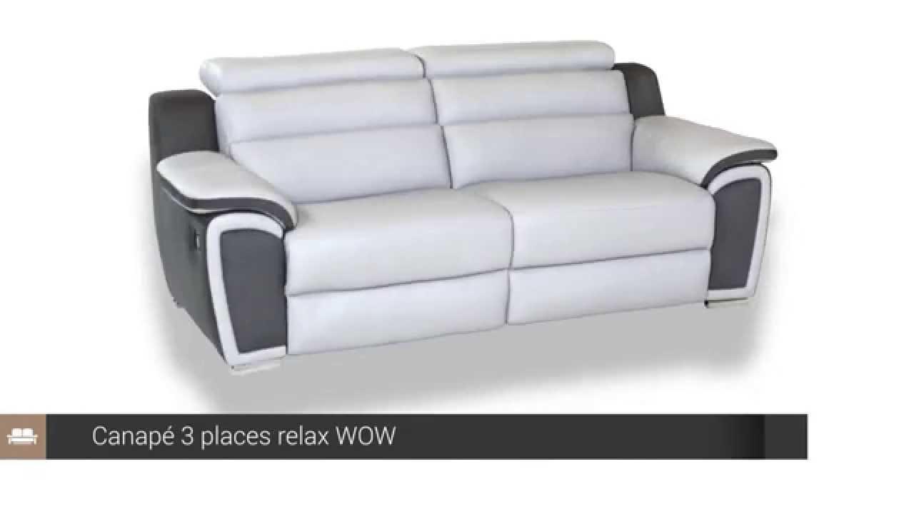 Canapé 3 Places Relax Cuir Wow - But encequiconcerne But Canapes Convertibles