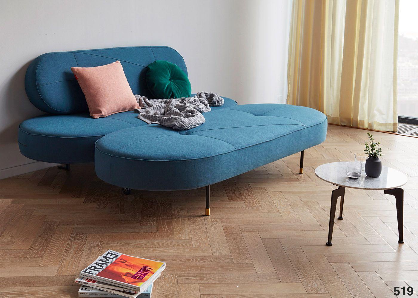 Canape Bleu Petrole Design Et Tendance Du Designer Per Weiss ... dedans Canape Convertible Original