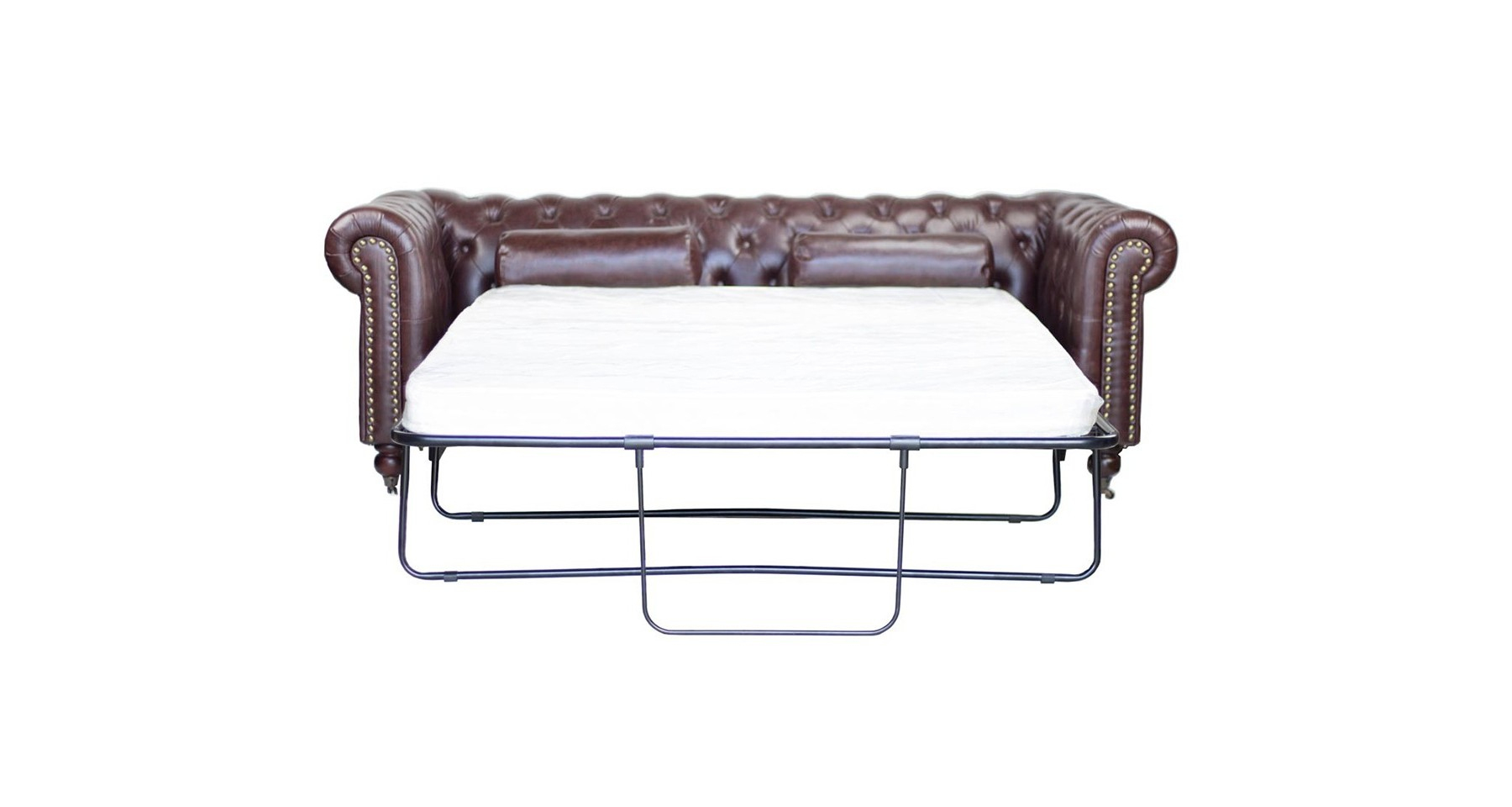 Canapé Chesterfield Convertible Couchage 160 En Cuir Poole destiné Canape Chesterfield Convertible