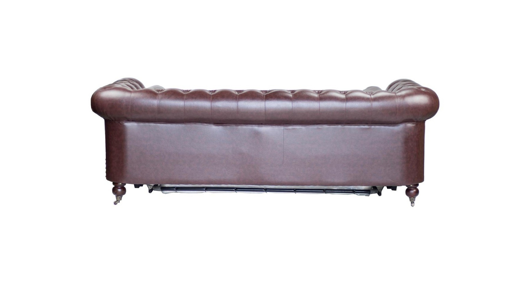 Canapé Chesterfield Convertible Couchage 160 En Cuir Poole pour Canape Chesterfield Convertible