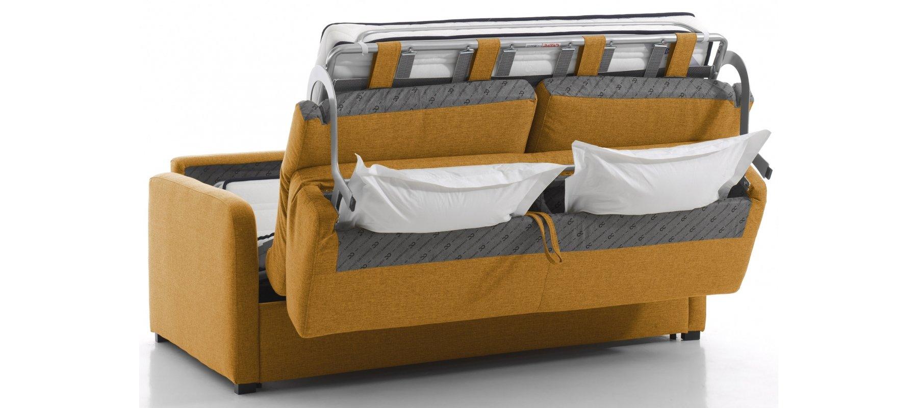 Canapé Convertible 140Cm 3 Places Bologne Rapido - Range ... avec Canape Convertible Tres Confortable