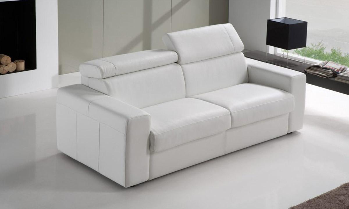 Canapé Convertible Cuir - Morris Altoni Leather concernant Canape Convertible Cuir Blanc