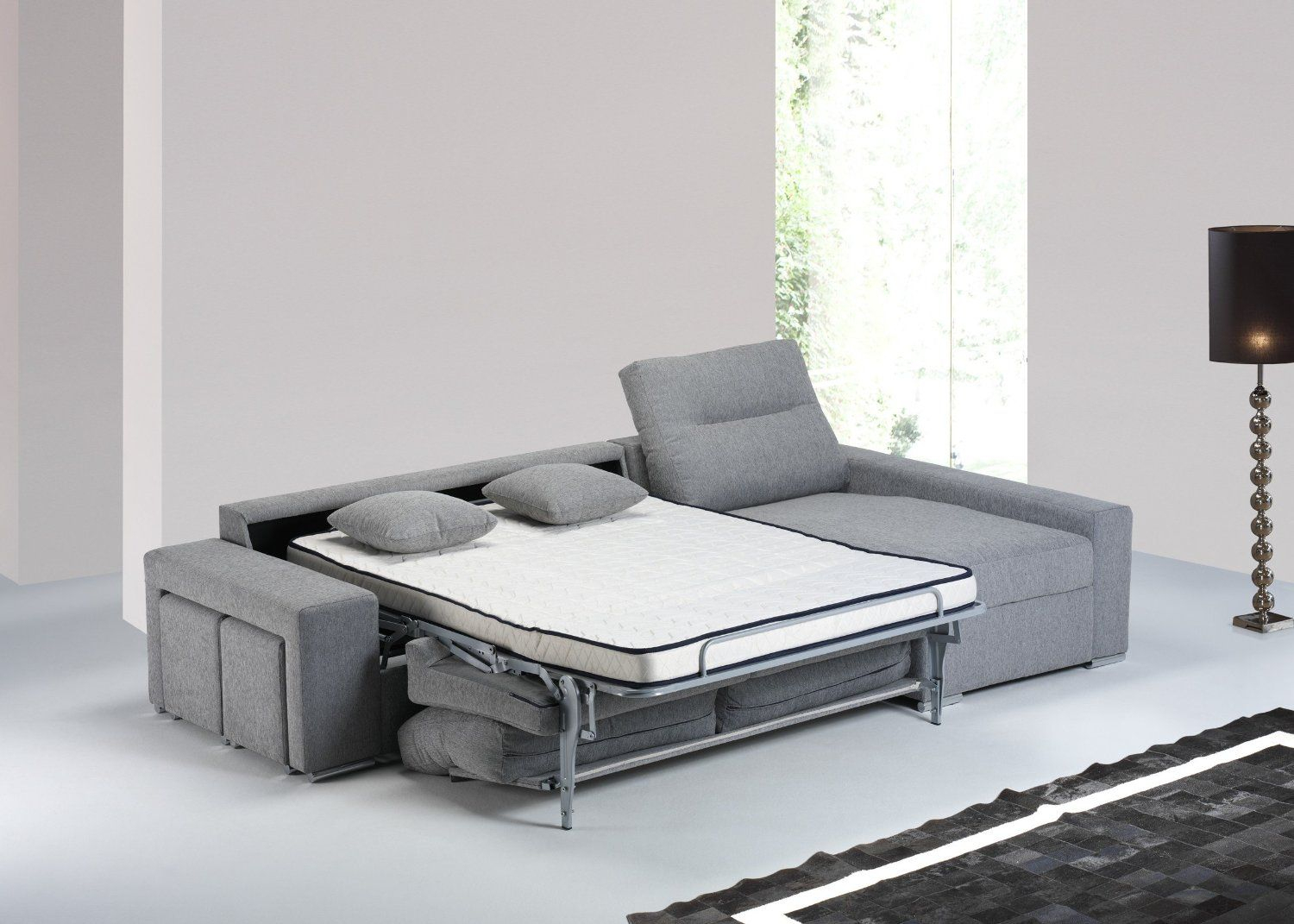 Canapé Convertible D'angle Conde, Couchage Quotidien 140*190 ... avec Canape Lit Convertible Couchage Quotidien