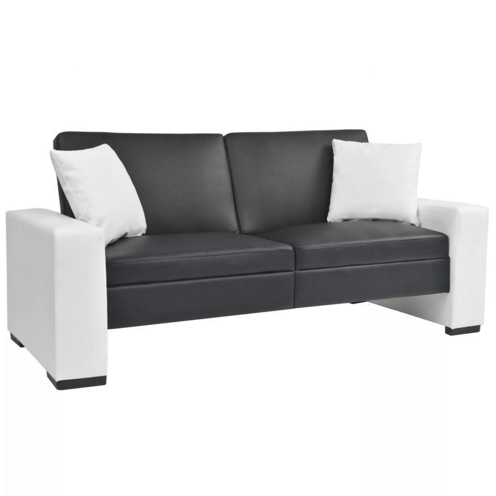 Canapé Convertible, Design, 2 Coloris - 2 Versions tout Canape Convertible Noir Et Blanc